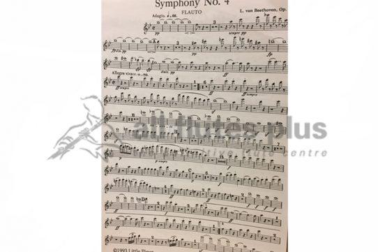 Beethoven Symphony No 4-Flute 1 Part-Little Piper