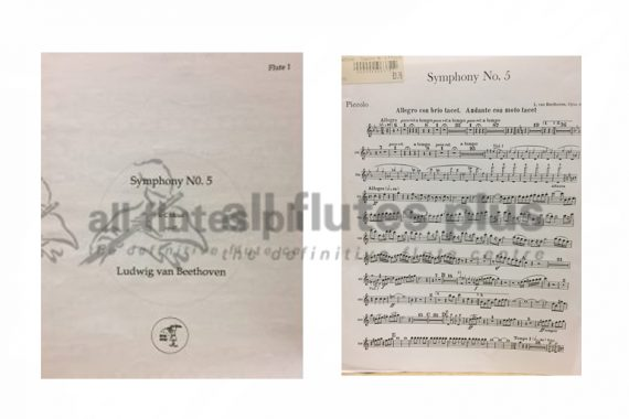 Beethoven Symphony No 5 in C Minor Op 67 Orchestral Parts-Little Piper