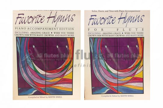 Favorite Hymns for Flute-Keith Snell-Solo, Duets and Trios with Piano-Alfred