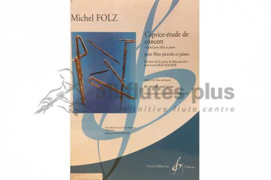 Folz Caprice-Etude de Concert-Piccolo and Piano-Billaudot