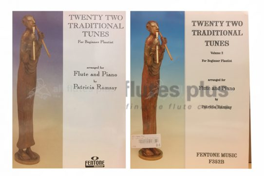 Twenty Two Traditional Tunes-Ramsay-Flute and Piano-Fentone Music