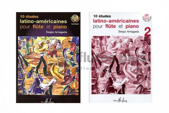 Arriagada 10 Latin American Studies-Flute Piano and CD-Lemoine