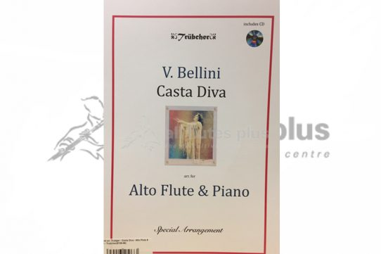 Bellini Casta Diva-Alto Flute and Piano-Book and CD-Trubcher Publishing