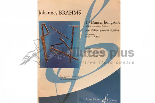 Brahms 13 Danses Hongroises-2 Piccolos and Piano-Billaudot