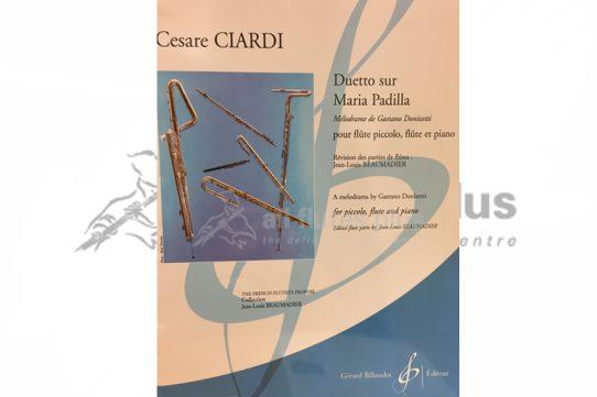 Ciardi Duetto sur Maria Padilla-Piccolo, Flute and Piano-Billaudot