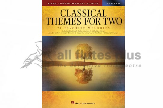 Classical Themes for Two Flutes Easy Instrumental Duets-Hal Leonard