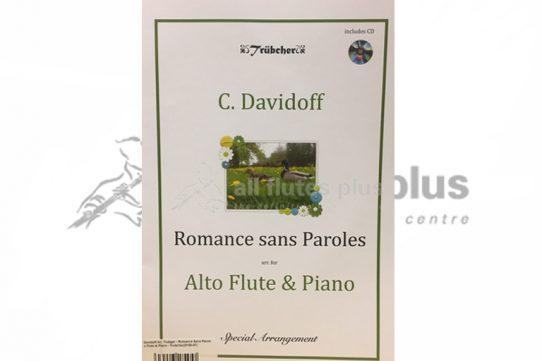 Davidoff Romance sans Paroles-Alto Flute and Piano-Book and CD-Trubcher Publishing