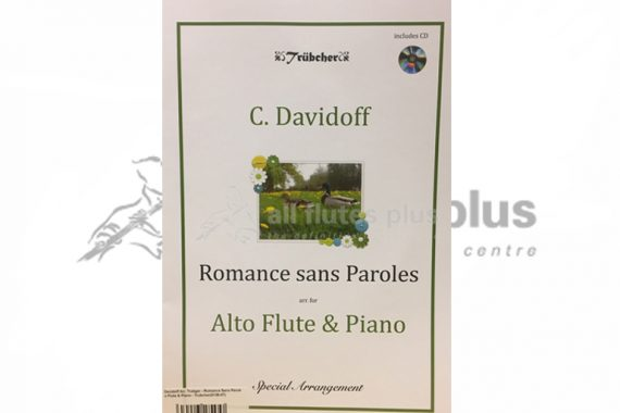 Davidoff Romance sans Paroles-Alto Flute and Piano-Book and CD-Trubcher Publishing
