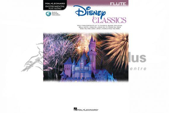 Disney Classics for Flute Instrumental Play-Along-Hal Leonard