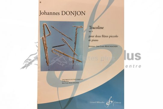 Donjon Tracoline Op 6-Two Piccolos and Piano-Billaudot