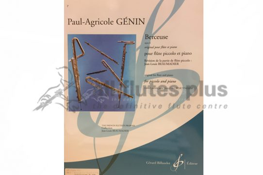 Genin Berceuse Opus 6-Piccolo and Piano-Billaudot