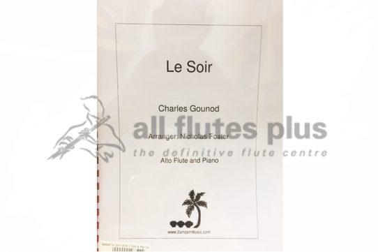 Gounod Le Soir-Alto Flute and Piano-Zamzam Music