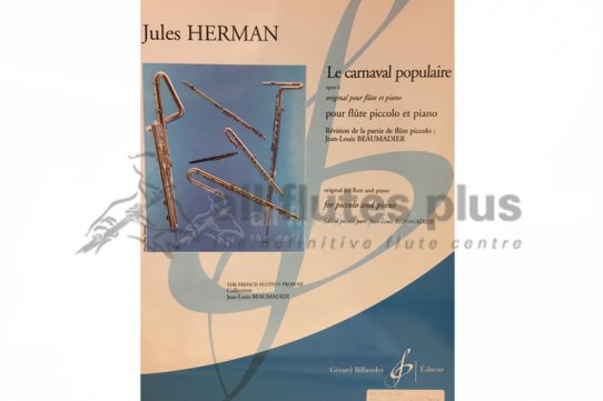 Herman Le Carnaval Populaire Opus 6-Piccolo and Piano-Billaudot