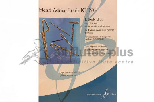 Kling L'etoile D'or Polka de Concert-Piccolo and Piano-Billaudot