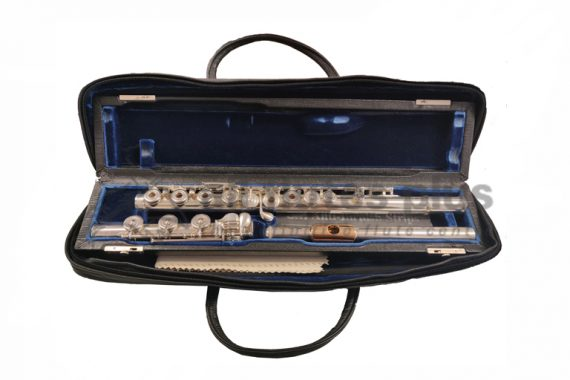 Powell 14K Aurumite Secondhand Flute with 14K Lip-Plate and Riser-C8983