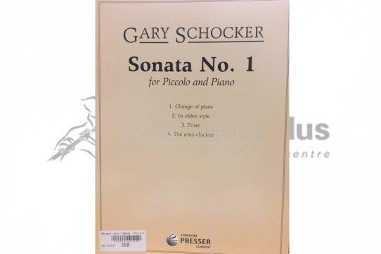 Schocker Sonata No 1-Piccolo and Piano-Theodore Presser