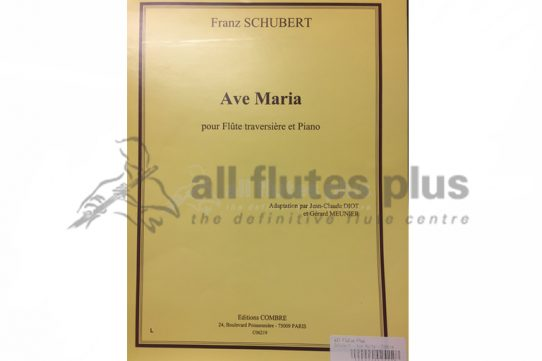 Schubert Ave Maria-Flute and Piano-Editions Combre