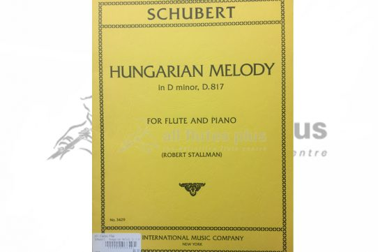 Schubert Hungarian Melody in D Minor D817-Flute and Piano-IMC
