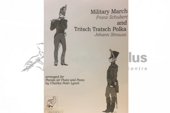 Schubert Military March and Strauss Tritsch Tratsch Polka-Piccolo and Piano