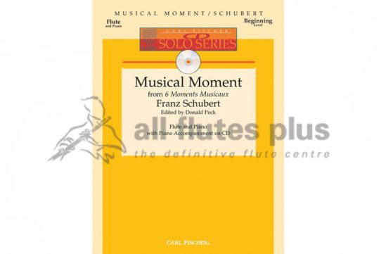 Schubert Musical Moment from 6 Moments Musicaux-Flute and Piano with CD-Carl Fischer
