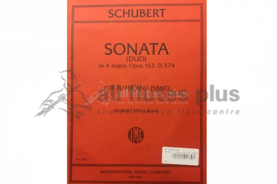 Schubert Sonata in A Major Opus 16-Flute and Piano-IMC