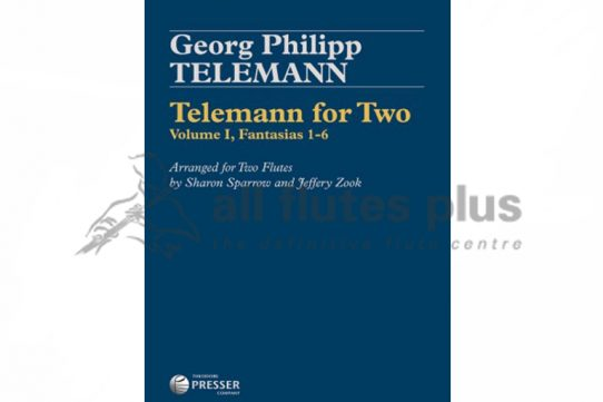 Telemann For Two Volume I Fantasias 1-6-2 Flutes-Theodore Presser