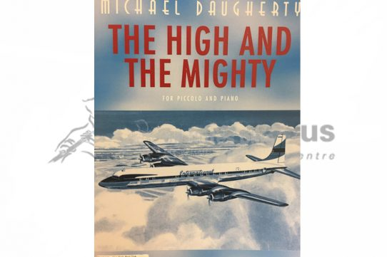 The High and Mighty-Michael Daugherty-Piccolo and Piano-Peer Music