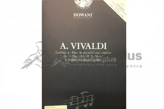Vivaldi Concerto in G Minor Op 10 No 2 RV439 La Notte-Flute and Piano with CD-Dowani