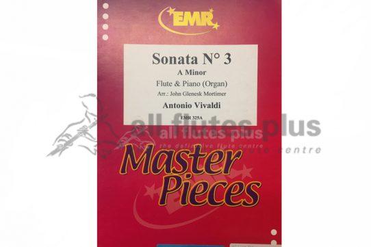 Vivaldi Sonata No 3 in A Minor-Flute and Piano or Organ-EMR