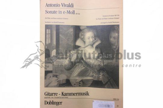 Vivaldi Sonata in E Minor RV50-Flute and Basso Continuo (Guitar)-Doblinger