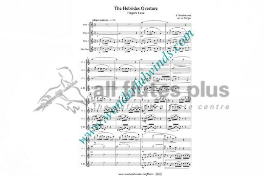 Mendelssohn Hebrides Overture-3 Flutes-Wonderful Winds