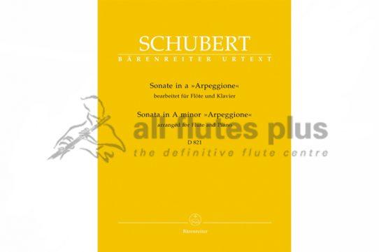 Schubert Sonata in A Minor D821 Arpeggione-Flute and Piano-Barenreiter