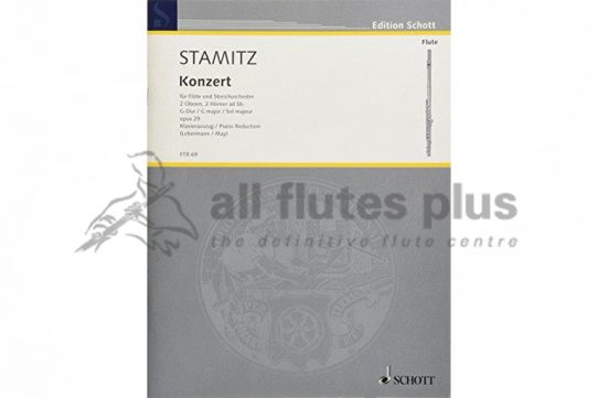 Stamitz Concerto in G Major-Flute and Piano-Schott