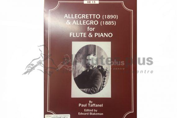 Taffanel Allegretto (1890) and Allegro (1885)-Flute and Piano-Hunt Edition