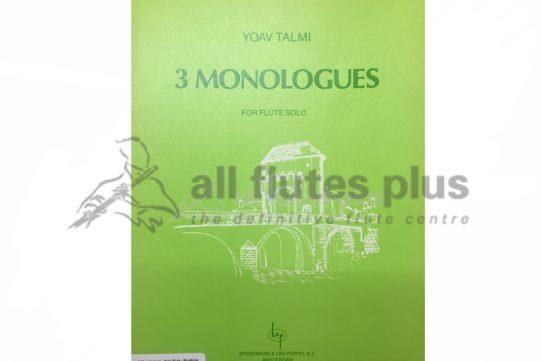 Talmi 3 Monologues-Flute Solo-Broekmans and Van Poppel