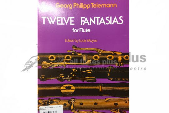 Telemann 12 Fantasias for Flute-Edited by Louis Moyse-Schirmer