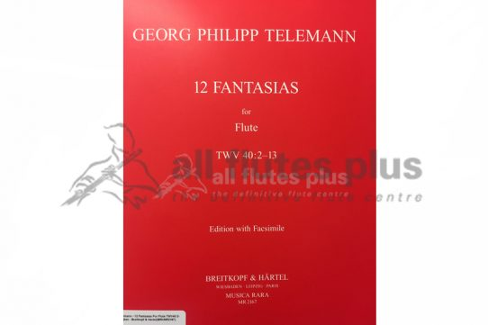 Telemann 12 Fantasias for Flute TWV 40:2-13-Breitkopf and Hartel