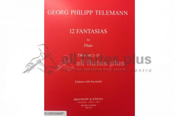 Telemann 12 Fantasias for Flute TWV 40:2-13-Breitkopf and Hartel