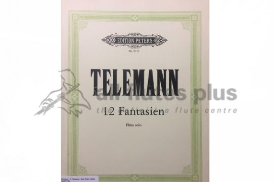 Telemann 12 Fantasien for Flute Solo-Edition Peters