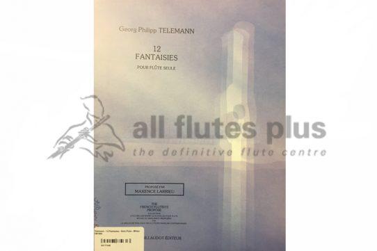 Telemann 12 Fantasies for Solo Flute-Maxence Larrieu-Billaudot