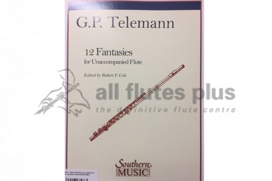 Telemann 12 Fantasies for Unaccompanied Flute-Southern Music