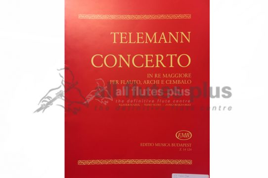 Telemann Concerto in D Major-Flute and Piano-EMB