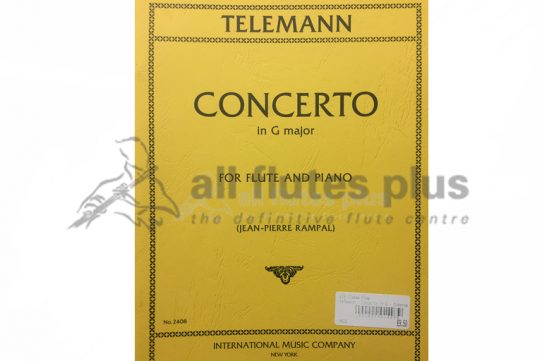 Telemann Concerto in G Major-Edited by Rampal-Flute and Piano-IMC