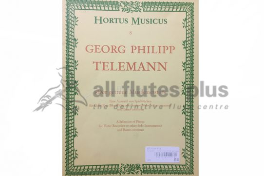 Telemann Der Getreu Musikmeister-A Selection of Pieces-Flute and Basso Continuo-Hortus Musicus