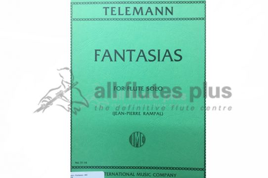 Telemann Fantasias for Flute Solo-Edited by Rampal-IMCTelemann Fantasias for Flute Solo-Edited by Rampal-IMC