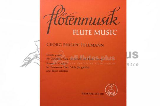 Telemann Sonata in G minor-Flute, Viola da Gamba and Basso Continuo-Barenreiter