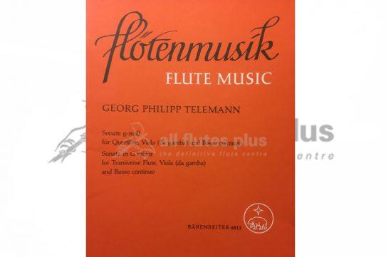 Telemann Trio Sonata in G Major-Flute, Violin and Basso Continuo Trio-Barenreiter