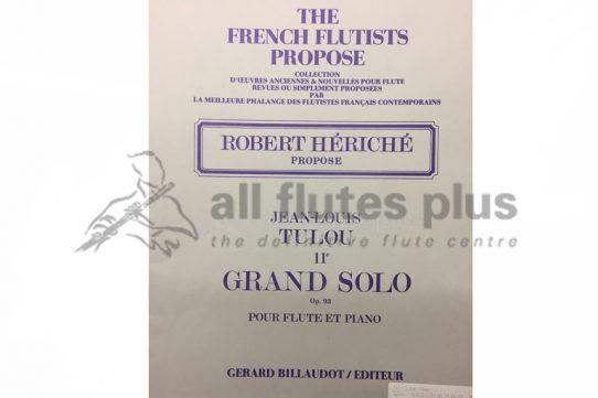Tulou Grand Solo 11E Op 93-Flute and Piano-Heriche-Billaudot