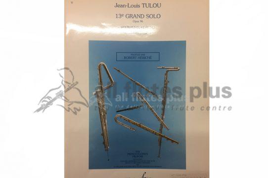 Tulou Grand Solo 13E Op 96-Flute and Piano-Heriche-Billaudot