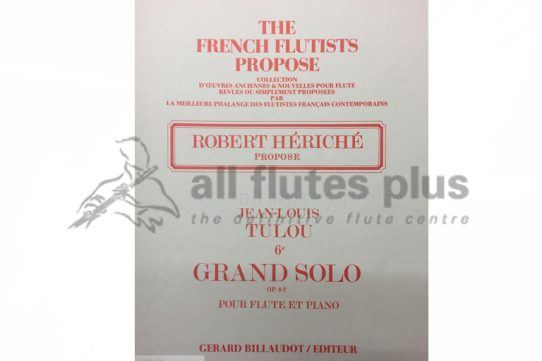 Tulou Grand Solo 6E Op 82-Robert Heriche-Flute and Piano-Billaudot